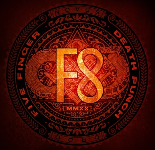 "Five Finger Death Punch mit dem Album ""F8"""