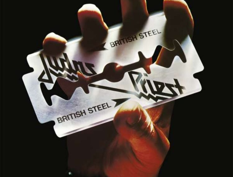"Das Albumcover ""British Steel"" von Judas Priest"