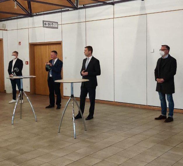 Bei einer Pressekonferenz wurde das neue Fürther Corona-Impfzentrum vorgestellt.