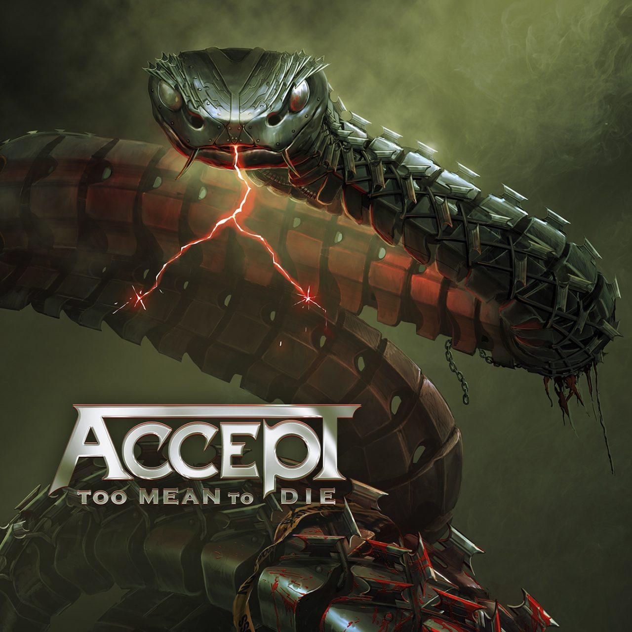 """Auf dem Albumcover von """"Too Mean To Die"""", dem 16. Studioalbum von Accept, ist eine Schlange zu sehen."""