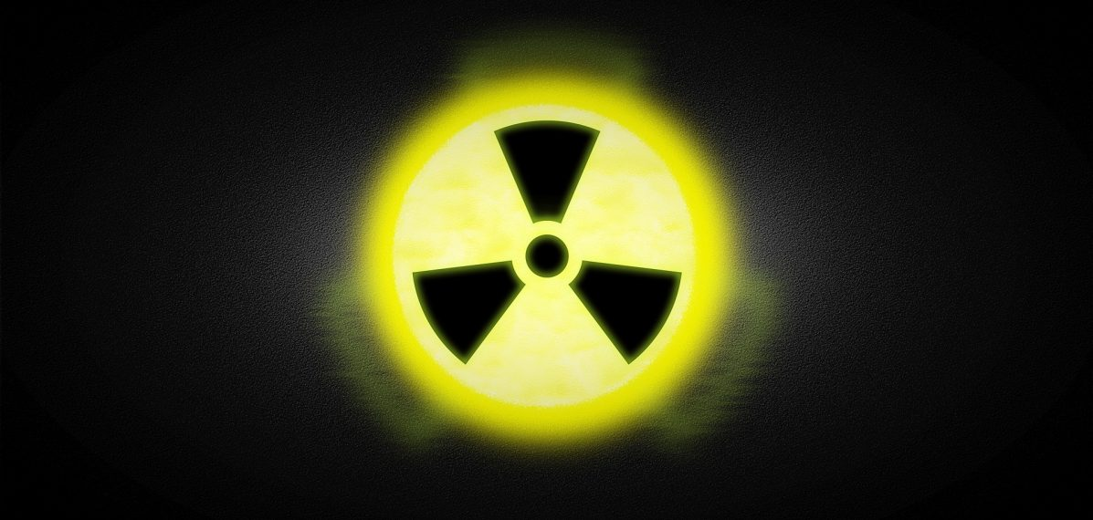 Auf dem Foto ist das Zeichen für Radioaktivität zu sehen.