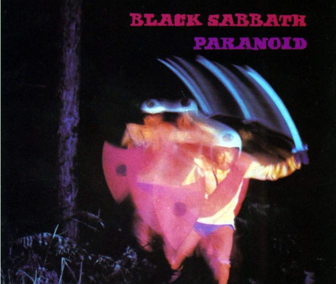 """Das Foto zeigt das Albumcover von """"Paranoid"""" der Heavy-Metal-Band Black Sabbath."""