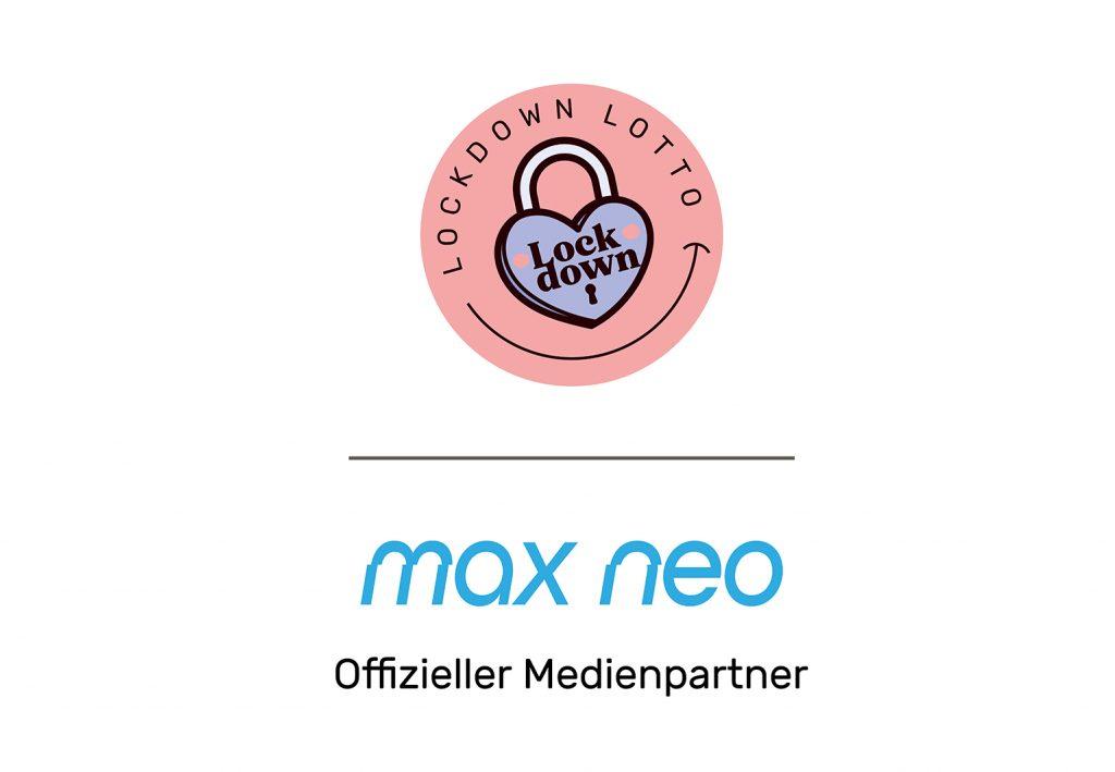 Max neo ist offizieller Medienpartner vom Lockdown Lotto.