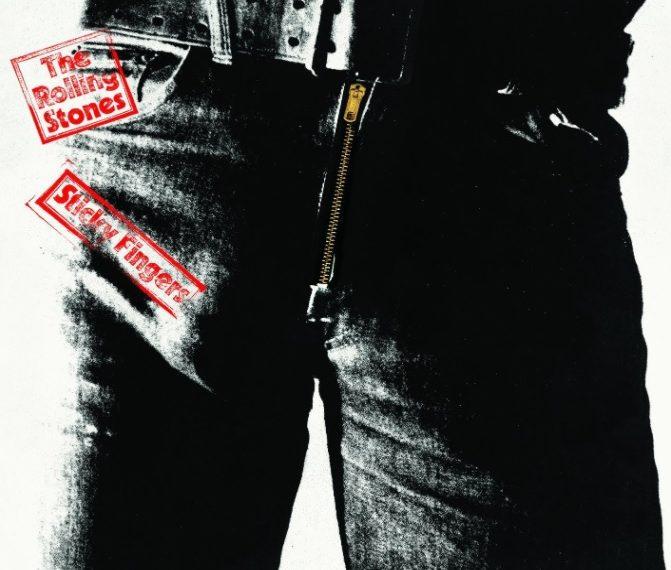 """Auf dem Albumcover """"Sticky Fingers"""" von den Rolling Stones ist der Schritt eines Mannes in knallenger Jeans mit deutlichem Abdruck seines Gemächts zu sehen."""