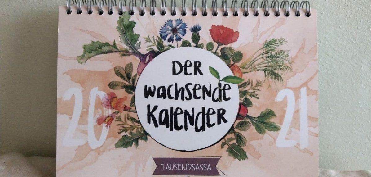 Man sieht auf dem Foto einen bunten Kalender - den wachsenden Kalender.