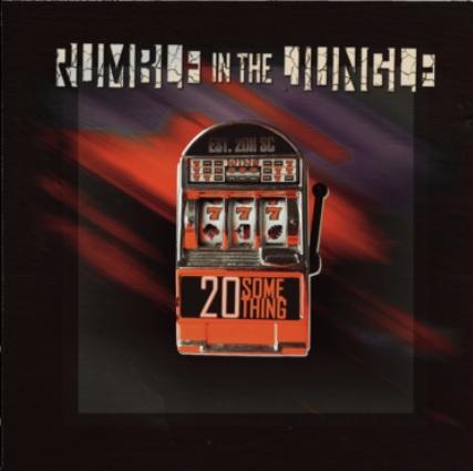 """Das Albumcover """"20something"""" von Rumble in the Jungle zeigt einen Spielautomaten."""