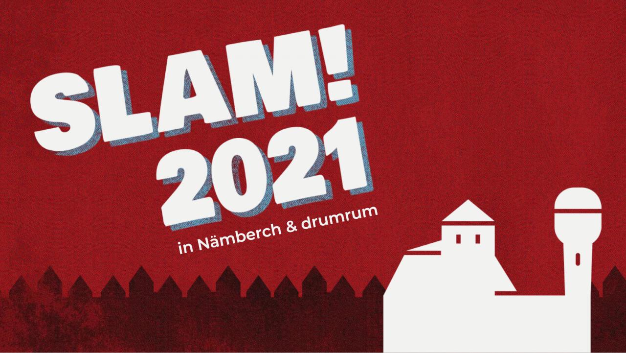 Logo des SLAM! 2021 - die offizielle deutsche Meisterschaft im Poetry Slam